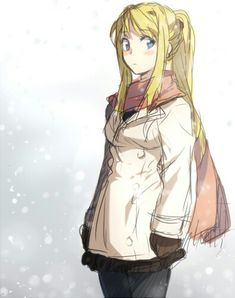 If I EVER have a baby girl, I'm naming her Winry. One of my favorite characters ever. She's so strong.