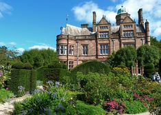 Holker Hall, Cumbria - Victorian West Wing and the Elliptical Garden