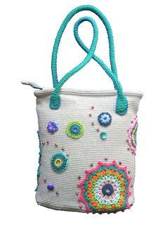 Summer crochet bag. Mandala women's bag. Tote bag. by Veselunka
