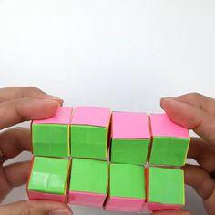 Amazing! Worth trying! Diy Crafts For Girls, Diy Crafts To Do, Diy Crafts Hacks, Diy For Kids, Cool Paper Crafts, Paper Crafts Origami, Figet Toys, Diy Toys, Origami Infinity Cube