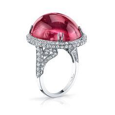 Rubellite & Diamond Ring - Hamra Fine Jewelry & Timepieces - https://www.hamra.com