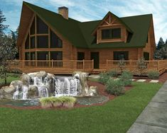 small one story Log homes | ... My Grandmother's Friend House : Luxury Log Home Plans Small Fountain