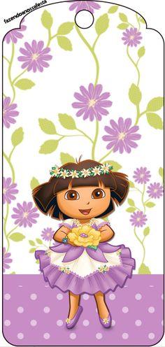 http://fazendoanossafesta.com.br/2013/11/dora-aventureira-fofa-kit-completo-com-molduras-para-convites-rotulos-para-guloseimas-lembrancinhas-e-imagens.html