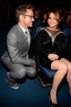 Robert Downey Jr. and Jennifer Lawrence at the 2013 People's Choice Awards held at Nokia Theatre L.A. Live on 01/09/12. This is my favorite picture of the evening! My two favorite people in Hollywood!