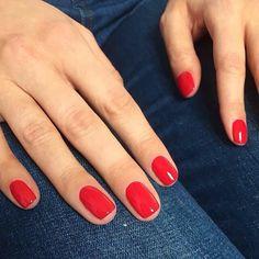 Nails, must read pin example. Visit nail art 9316992358 right now. Red Gel Nails, Gel Nails At Home, Pink Nails, Diy Nagellack, Nagellack Trends, Mollie King Instagram, Cute Nails, Pretty Nails, Short Red Nails