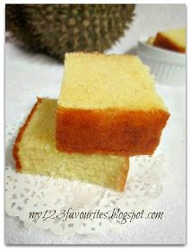 my little favourite DIY: Durian & Cheese Butter Cake..榴莲配芝士牛油蛋糕