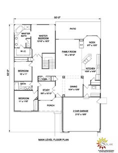 First Floor Plan of Ranch   House Plan 94389
