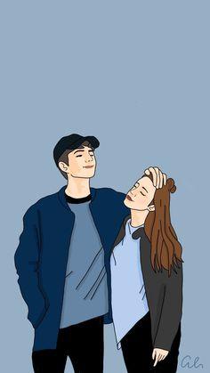 Cute Couple Drawings, Cute Couple Cartoon, Cute Couple Art, Cute Love Cartoons, Anime Couples Drawings, Cute Love Wallpapers, Cute Couple Wallpaper, Cute Wallpaper Backgrounds, Cute Cartoon Wallpapers