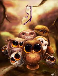 Putu owls by ~Anto-Z