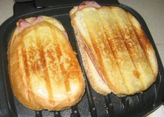 Ham and Cheese Panini on a George Foreman Indoor Grill The Half Fast Cook is having grilled Panini sandwiches made on the standard little . Panini Grill Recipes, Grilled Hamburger Recipes, Grilled Ham And Cheese, Making Grilled Cheese, Grilled Sandwich, Grilling Recipes, Panini Sandwiches, George Foreman Recipes, George Foreman Grill
