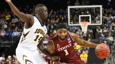 Adam Woodbury's pushoff, putback at buzzer lift Iowa over Temple in NCAA Tournament