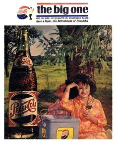 Pepsi, The Big One. Vintage Comics, Vintage Ads, Vintage Posters, Pepsi Ad, Philippine Art, Filipiniana, Local Ads, Commercial Ads, Old Advertisements