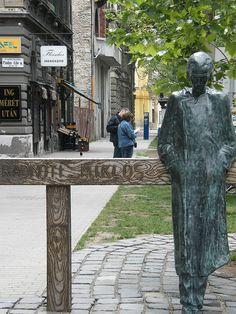 Radnóti statue by Imre Varga Bronze Sculpture, Hungary, Budapest, Creative Art, Statue, Sculptures, Drawings, Sculpture