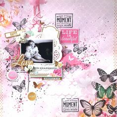 'Love' Layout [view 1] by Amanda Baldwin for Kaisercraft 'All that Glitters' collection ~ Scrapbook Pages 3.