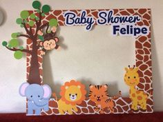 Ideas for baby boy shower themes bear birthdays Baby Shower Decorations For Boys, Boy Baby Shower Themes, Baby Shower Centerpieces, Baby Boy Shower, Safari Theme Birthday, Safari Party, Animal Birthday, Baby Shower Photos, 1st Birthdays