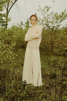 Designer Catherine Holstein's new label finds confidence in contrast. Each piece proposes a fresh balance of opposing elements while embodying a signature sensuality and ease.