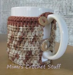 Crochet and Other Stuff: Crochet a Mug Cozy +free pattern
