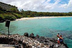 Mauna Kea Beach 1 hour north of the airport in Kona