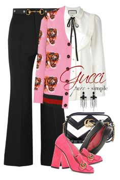 """""""Gucci Hot Pink"""" by jacque-reid ❤ liked on Polyvore featuring Gucci"""