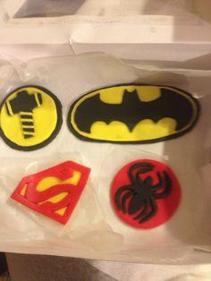 My symbols for super hero cake