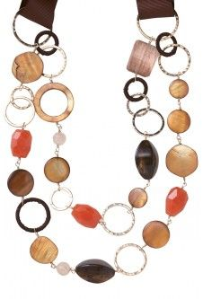great necklace...orange and brown