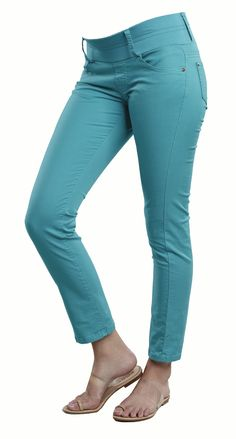 Turquoise Colored Skinny Ankle Maternity Jeans from Maternal America - or maybe Thanksgiving Pants a la Joey