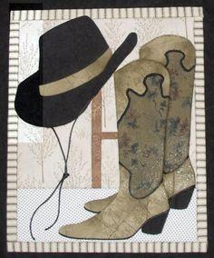 Cowboy Hat & Boots Artsi2 Quilt Board
