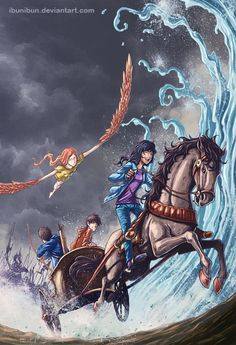 this is third novel's cover i made for Rick Riordan's series published in Indonesia. here's the first and second: