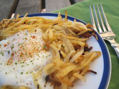 "rutabaga hash browns--say what?!  easy on the ""fat""  I would cook in coconut oil.  you can also cook in a bit of ghee (clarified butter)"