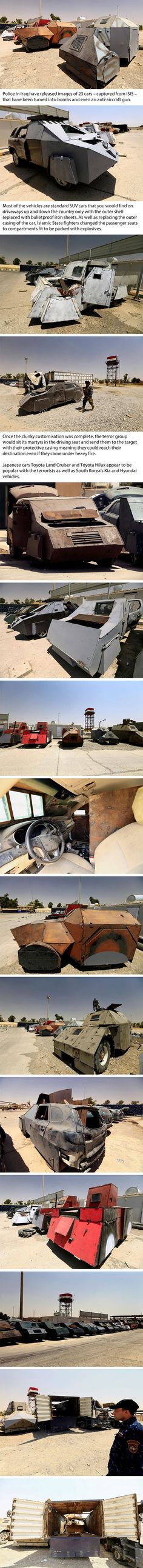 Chilling Look At The Ordinary Cars ISIS Have Transformed Into 'Mad Max' Deadly Bombs