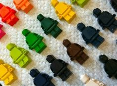 Lego Man Crayons by Divonsir Borges