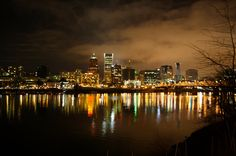 Skyline of downtown Portland Oregon at night...so beautiful