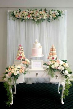 Decoration for baptism party gorgeous christening baptism party see more party planning ideas at baptism decorations . Baptism Decorations, Birthday Decorations, Wedding Decorations, Wedding Centerpieces, Wedding Table, Theme Bapteme, Christening Party, Baptism Party Girls, Christening Dessert Table