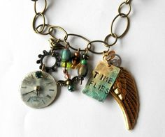 Time Flies Mixed Media Necklace.......LOVE!......(may have reprinted before!)