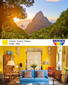 There's a world of colors to choose from when decorating your home and Sunny Yellow has its own superpower that transforms your home. Yellow is the type of color that makes a strong statement even when it isn't covering the walls. Sometimes just a little bit is all you need, like a shot of yellow that brings any space to life! Be inspired by the wonderful colours of nature around you!  #BergerCaribbean #BergerPaintsCaribbean #BergerPaints #BergerLifestyle #BergerInspiration #Yellow