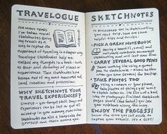 "An example from ""The Sketchbook Handbook,"" Mike Rohde's guide to visual note taking (Photo Courtesy Mike Rohde)"