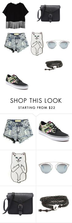 """""""Untitled #64"""" by bleona-ermonda on Polyvore featuring Vans, RIPNDIP and Christian Dior"""