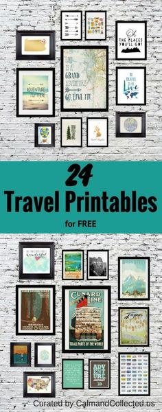 24 Travel Printables for Free Curated by CalmandCollected.us 24 Travel Printables for Free Curated by CalmandCollected.us 24 Travel Printables for Free Curated by CalmandCollected. Map Monde Deco, Travel Gallery Wall, Site Art, Illustration, Travel Themes, Free Prints, Diy Wall, Printable Wall Art, Printable Quotes