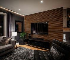 super moderne wohnwand aus holz - luxus wohnzimmer