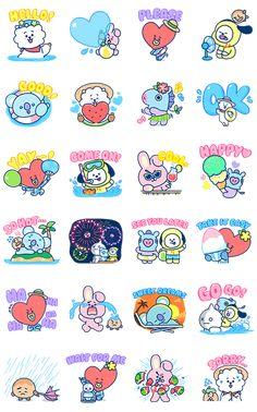 UNIVERSTAR heads to the sea to beat the heat of a scorching hot summer day! Kawaii Stickers, Diy Stickers, Printable Stickers, Mini Drawings, Kpop Drawings, Bts Wallpaper, Iphone Wallpaper, Korean Stickers, Kpop Diy
