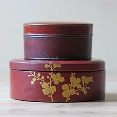 Lacquered Lidded Boxes Pair 2 now featured on Fab.com Reg.$170 now $99