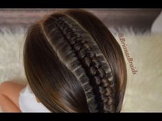 Hair Styles For School Stacked Fishtail Braid Braided Hairstyles For School, Girly Hairstyles, Fishtail Braid Hairstyles, Easy Hairstyles For School, Teenage Hairstyles, Ponytail Updo, Mohawk Braid, Gorgeous Hairstyles, Simple Hairstyles