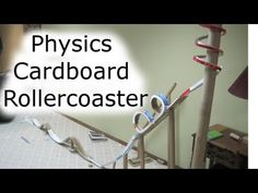 How To: Build a Cardboard Rollercoaster (Physics Class)  So much cardboard. better put it to use!