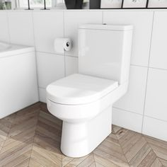 See our Oakley Close Coupled Toilet inc. Luxury Soft Close Seat Special Offer plus many more Close Coupled Toilets at VictoriaPlum.com - £149