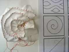 ...And Then We Set It On Fire: Six swatches Parallel Lines stitched