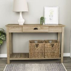 48 inch Country Style Entry Console Table - Natural (Multiple Colors Available) Entry Tables, Sofa End Tables, Slatted Shelves, Furniture Deals, Furniture Outlet, Online Furniture, Console Table, Living Room Furniture, Diy Home Decor