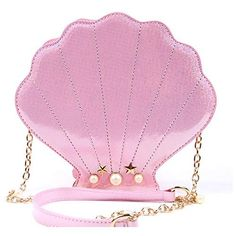 33e39af57cfd LUI SUI Women Novelty Laser Shell Shape Cross-body Shoulder Bags Pearl  Chain Evening Purse
