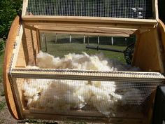 fibre tumbler, easy way to clean wool
