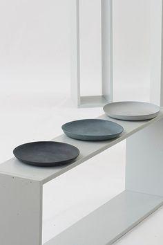 #interior #decor #styling #pattern #texture #plates #grey #white