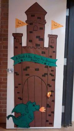 Castle theme classroom door